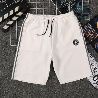 夏季运动短裤男士跑步健身训练速干潮休闲五分大码宽松沙滩篮球裤