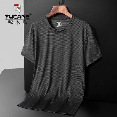 51571/啄木鸟速干短袖t恤男2021新款夏季冰丝弹力透气运动宽松男士T恤