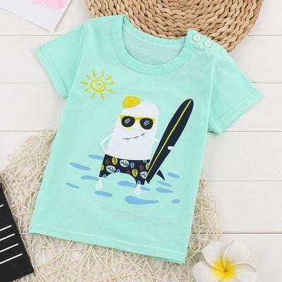 男宝宝半袖女童夏装短袖纯棉t恤童装男童上衣小儿童打底衫中大童