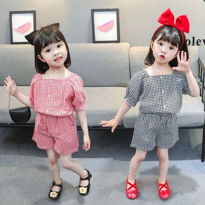 【短裤+上衣】儿童2021夏装时尚新款短袖套装时髦洋气女宝宝套装