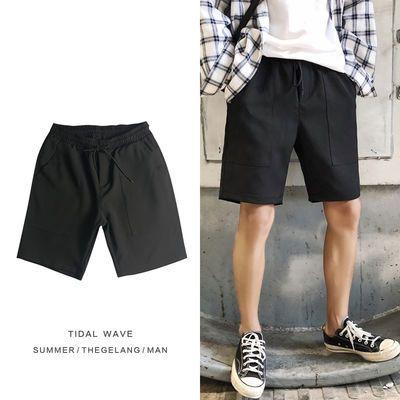 夏季短裤男宽松透气5分裤大口袋青少年西裤韩版短裤百搭潮流微弹