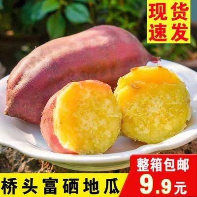正宗海南桥头富硒桥沙地瓜沙地红蜜薯超甜糖心批发2/10斤黄心