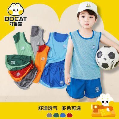 40180/叮当猫童装夏季新运动篮球服男童背心短裤套装球服中大童透气球衣