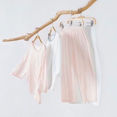 夏季儿童睡衣薄款男童竹纤维空调服女童家居服宝宝男女孩透气套装