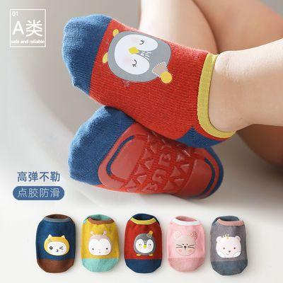 39424/宝宝地板袜儿童隔凉防滑袜子夏季薄款纯棉春秋软底婴儿学步短船袜