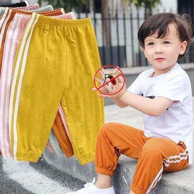女童裤子2021新款儿童防蚊裤男女休闲运动裤夏季新薄款宽松灯笼裤