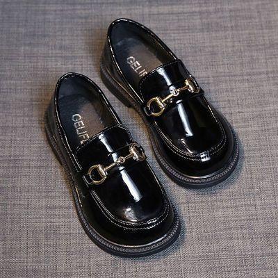 软皮小公主女童鞋儿童鞋2021春秋新款潮公主鞋女款小皮鞋软底单鞋