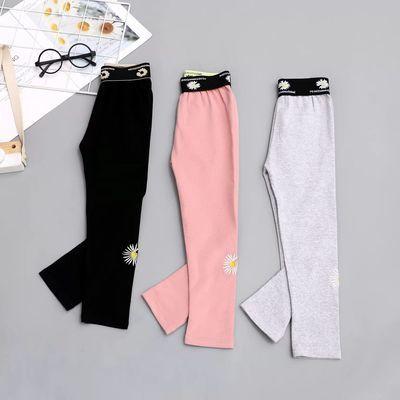 【儿童打底裤】童裤纯棉刺绣打底裤新品