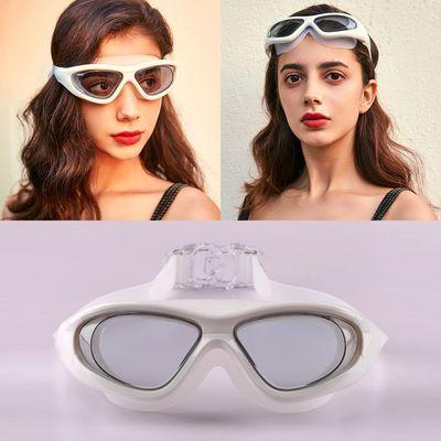 12619/泳镜防水防雾大框泳镜防晒高清近视平光游泳眼镜男女时尚护目镜