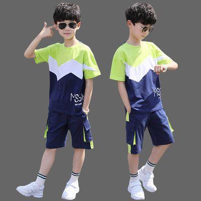 40022/12男童夏装套装2020年新款5运动短袖6洋气7男孩8夏季T恤9中大童13