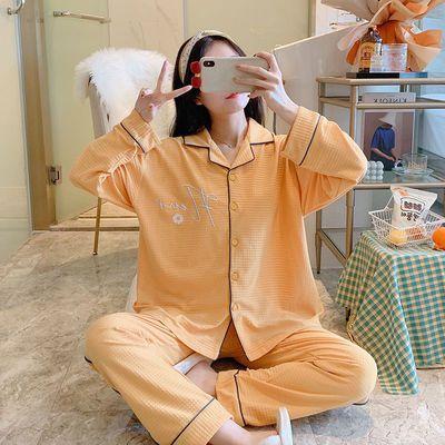 35453/月子服夏季薄款5月份6产后喂奶春秋精梳棉孕妇睡衣7哺乳衣怀孕期8