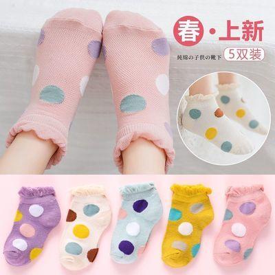 女童袜子春夏季薄款透气学生儿童纯棉网眼短袜婴儿宝宝公主棉袜夏