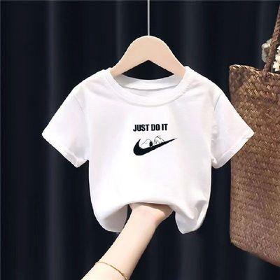 高质量纯棉2021新款儿童短袖t恤宝宝上衣夏季男童女童童装小薄款