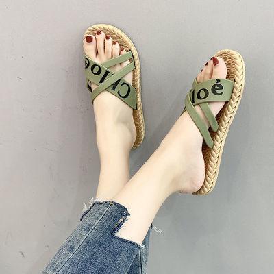 韩版ins网红熊底沙滩新款拖鞋女夏外穿时尚百搭时尚女拖鞋