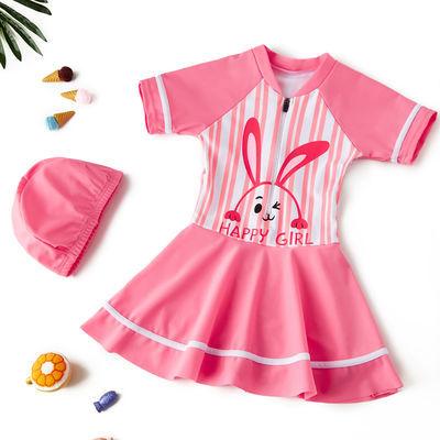 9416/女童泳衣公主裙式2020年新款洋气中大童小女孩连体温泉泳装可爱款