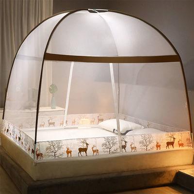 免安装蒙古包蚊帐家用1.8米床1.5m90cm宿舍1.2米帐篷单人折叠蚊帐