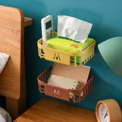 免打孔厕所纸巾盒卫生间置物架放卫生纸手纸家用厕纸卷纸盒壁挂式