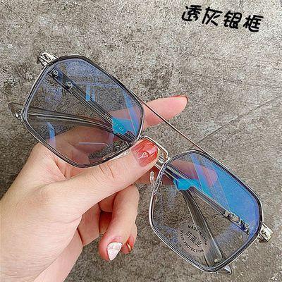 35347/变色近视眼镜男防蓝光防辐射平光眼镜无度数女防紫外线太阳镜潮流