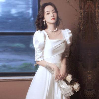 16396/轻奢小众晚礼服连衣裙女2021新款中长款气质名媛平时可穿宴会订婚