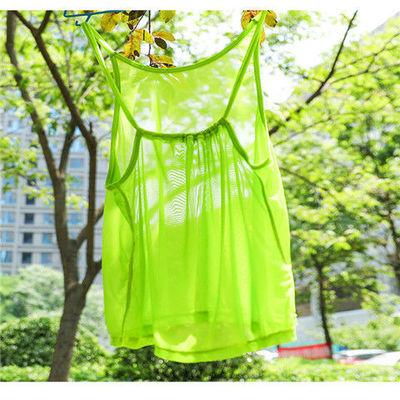 16916/网红瑜伽罩衫女夏天运动吊带露背宽松性感美背网纱外搭健身背心