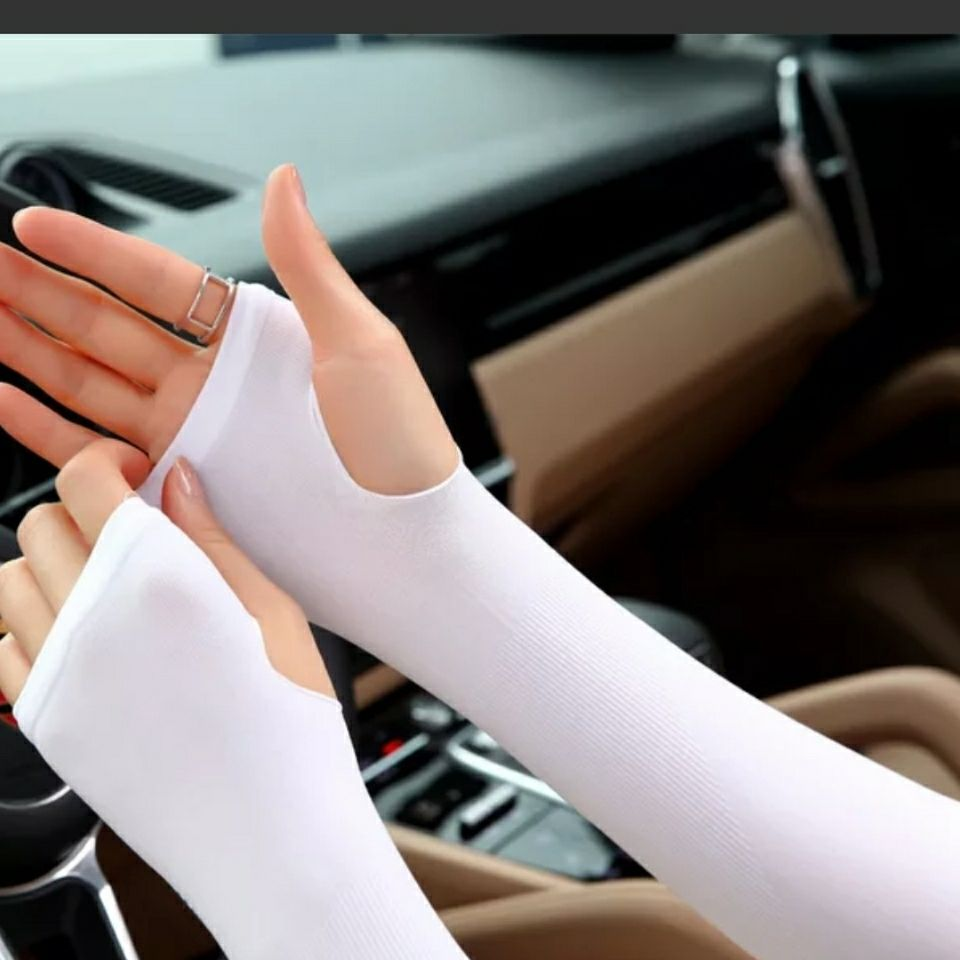 冰袖女防晒袖套夏季户外骑行开车手袖护臂冰爽冰丝女男套袖手套