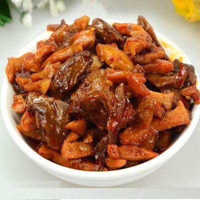 麻辣豪横鱿鱼丁杏鲍菇丁即食小海熟食组合小零食悠闲娱乐辣味小吃