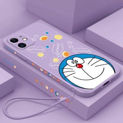 18702/苹果12手机壳新款卡通哆啦A梦iPhone11pro液态硅胶套防摔软壳12pr