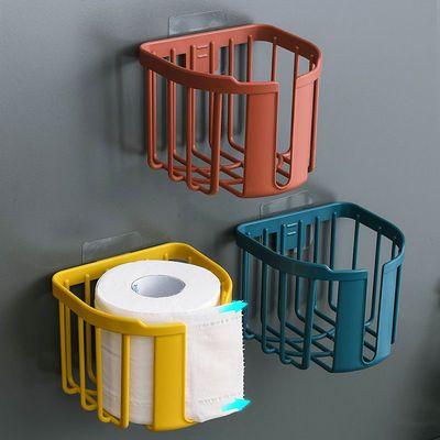 免打孔厕所纸巾盒卫生间置物架放卫生纸抽纸洗手间厕纸卷纸筒壁挂