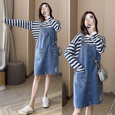 39603/牛仔背带裙女装春季秋可爱日系连衣裙2021新款学生韩版宽松中长裙