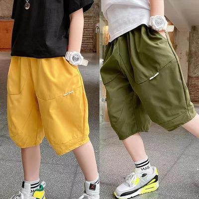男童短裤夏季五分裤2021新款中大童薄款运动休闲裤宽松儿童灯笼裤