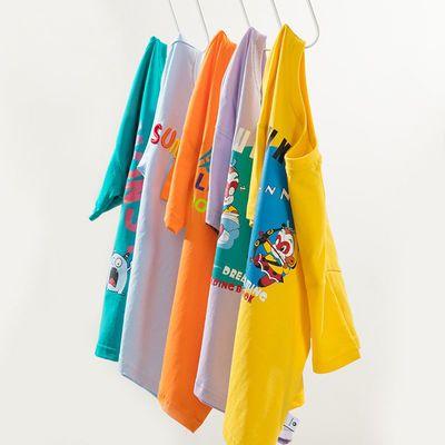 童装男童短袖T恤圆领半袖上衣2021夏装新款儿童纯棉体恤中大童潮
