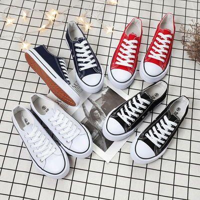 13842/2021夏季新款帆布鞋女学生韩版潮流百搭平底休闲鞋帆布鞋低帮女鞋