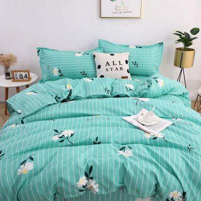 床上用品水洗棉亲肤磨毛网红款床单学生宿舍三件套四件套床上用品