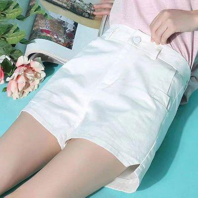 20631/白色短裤女夏宽松外穿2021新款高腰阔腿显瘦a字裤子黑色休闲热裤