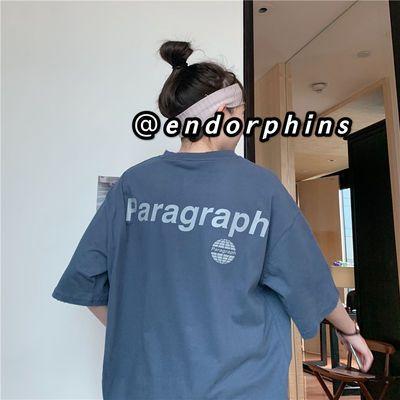 68050/棉潮ins宽松印花字母短袖T恤女装2021夏季新款韩版百搭学生上衣【7天内发货】