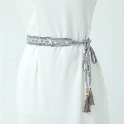 67720/编织流苏腰带女裙装百搭细腰带蕾丝花边腰带甜美细腰带