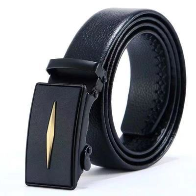 11747/男士皮带裤带自动扣腰带年轻人时来运转潮流皮裤带正品休闲皮带