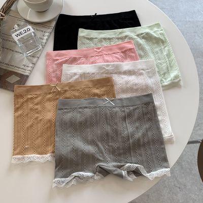 2021新款防走光蕾丝安全裤女平角三分保险裤内穿打底外穿短裤