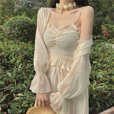 29344/配吊带裙子的小披肩女夏外搭短款薄款冰丝开衫外套防晒衫女空调衫