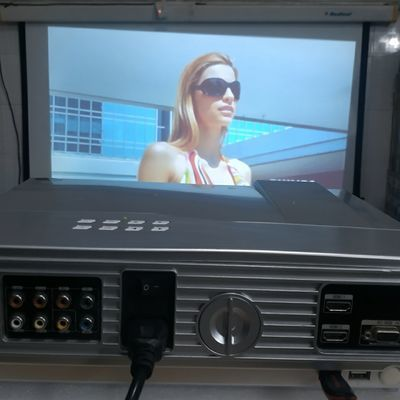 75180/(二手)可放u盘投影机家用led投影仪高清电影广场舞KTV轰天炮