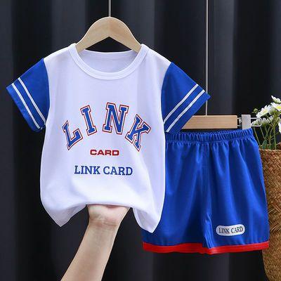 儿童背心无袖短裤套装夏季男童篮球服女童速干运动服两件套1-9岁