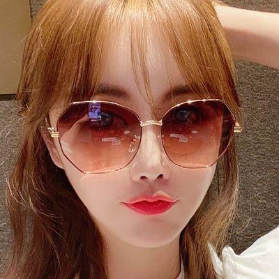 31734/墨镜ins大框女韩版网红同款开车专用偏光太阳镜女士圆脸防紫外线