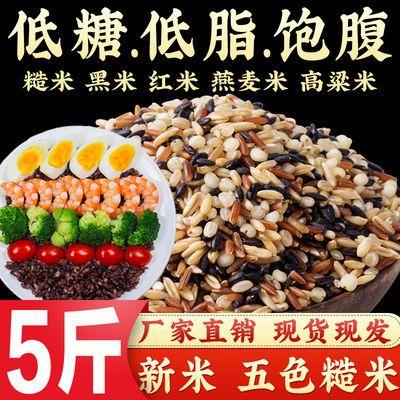 五色糙米新米5斤健身脂减糙米饭粗粮粥五谷杂粮米三色糙米1斤批发