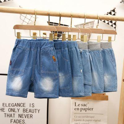 男童牛仔短裤中小童2021新款韩版儿童牛仔中裤外穿夏季薄款五分裤