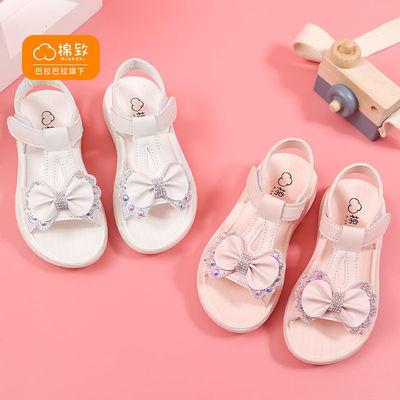 33756/巴拉巴拉旗下棉致女童凉鞋2021新款夏季韩版软底防滑公主鞋中大童