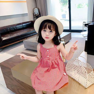 儿童夏装新款裙子童装2021韩版时尚女宝宝吊带露肩女孩连衣裙
