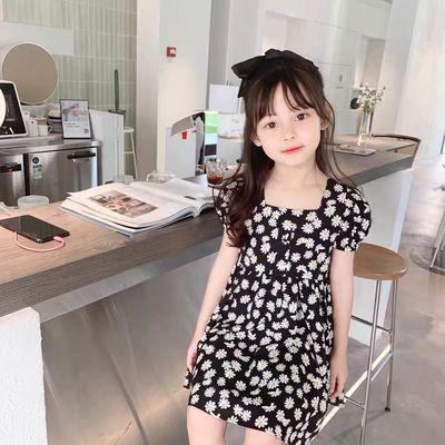 童装2021新款儿童公主裙子韩版时尚女宝宝印花小女孩连衣裙