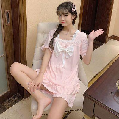 32499/夏季睡衣女日系风可爱公主风宽松网红洋气在逃公主睡衣套装可外穿
