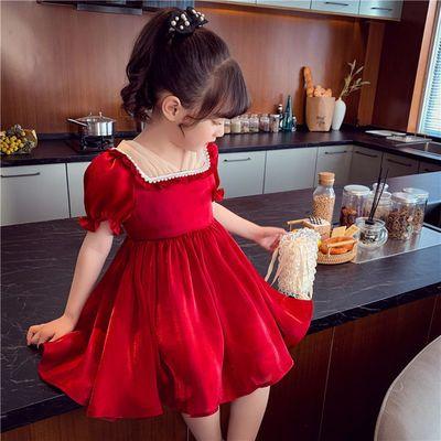 39550/女童连衣裙2021新款儿童韩版洋气雪纺裙子女孩网红超仙公主裙夏装