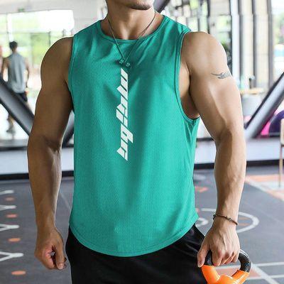 37429/潮牌速干运动背心无袖肌肉兄弟训练夏季健身跑步吸湿排汗新款t恤